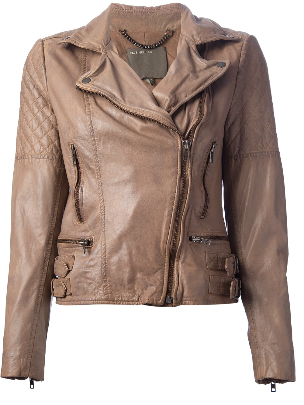 1a2a894357cb2a Muubaa Leather Jacket in Brown - Lyst