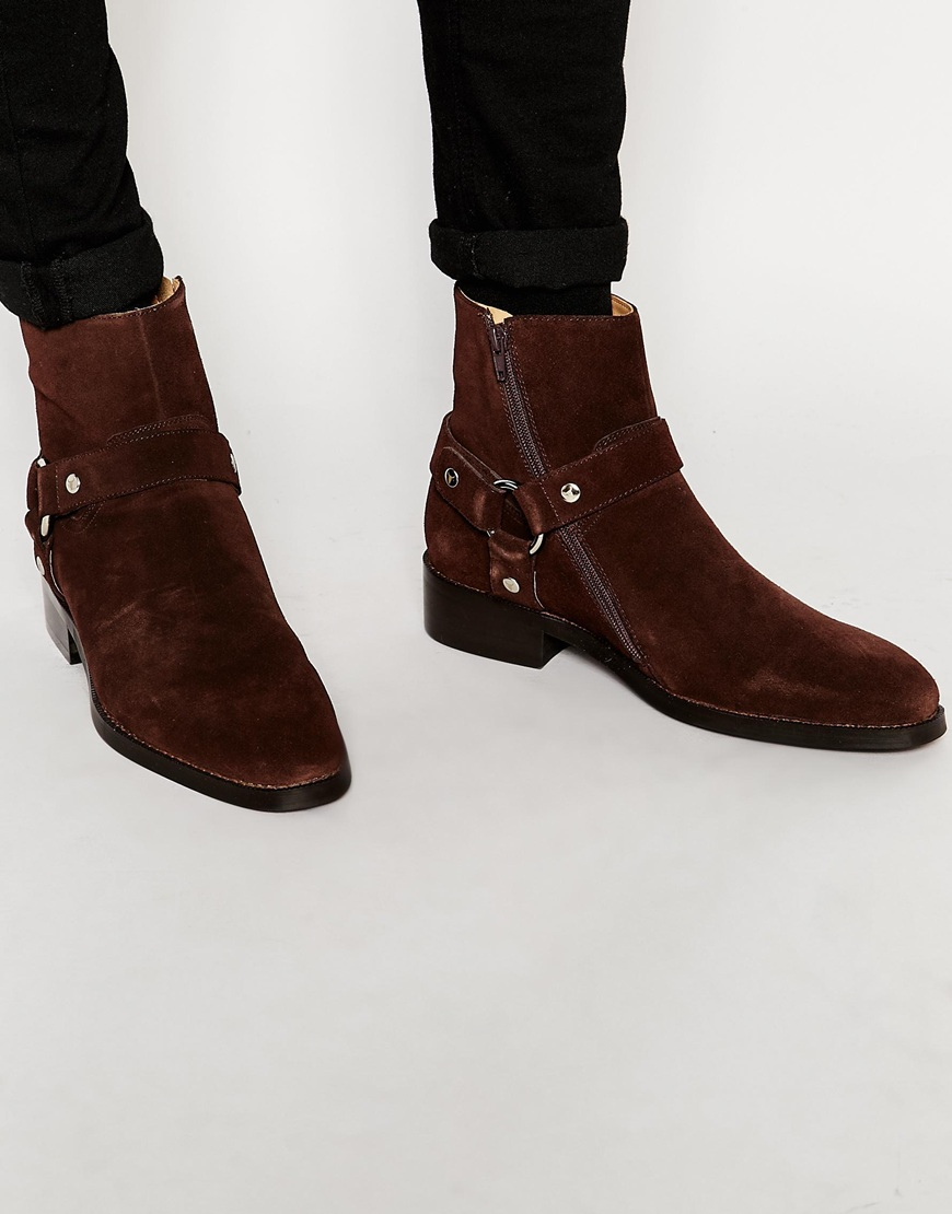Lyst Windsor Smith Knightsbridge Suede Boots In Brown