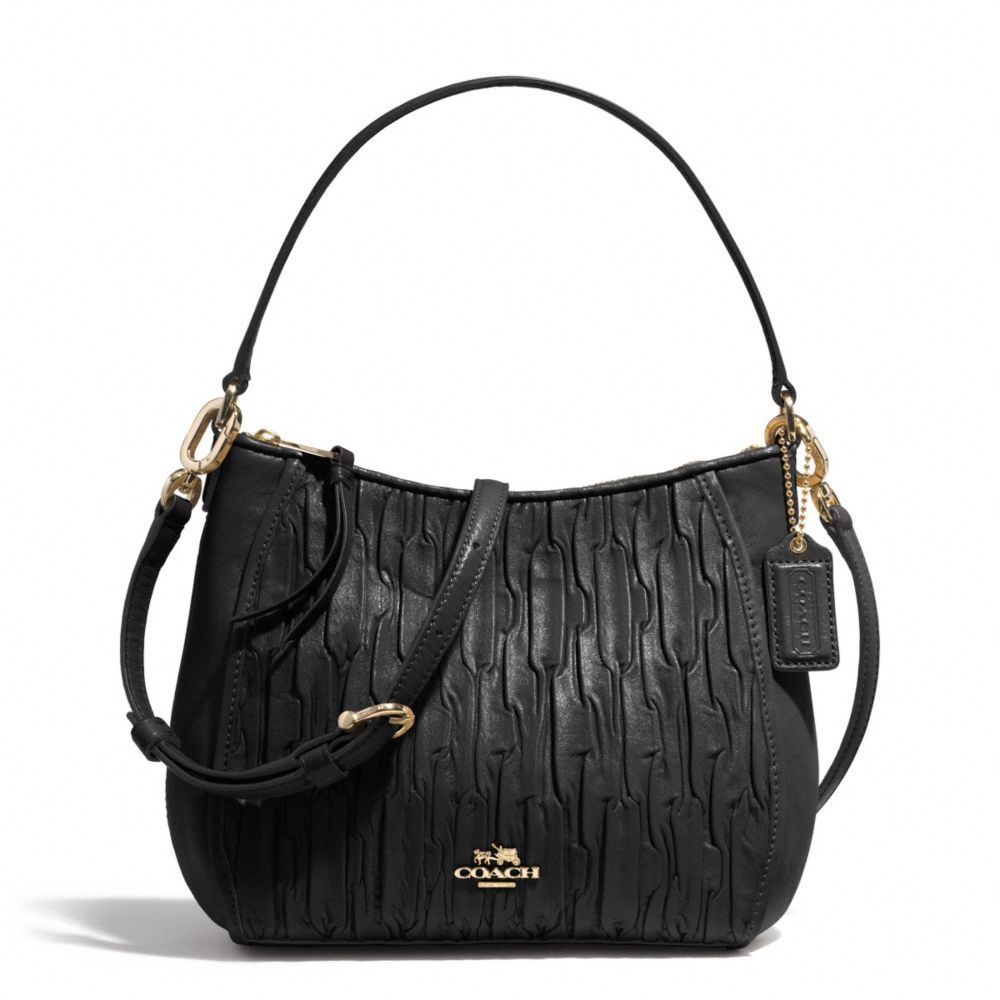 Lyst - COACH Madison Top Handle Bag in Gathered Leather in ...