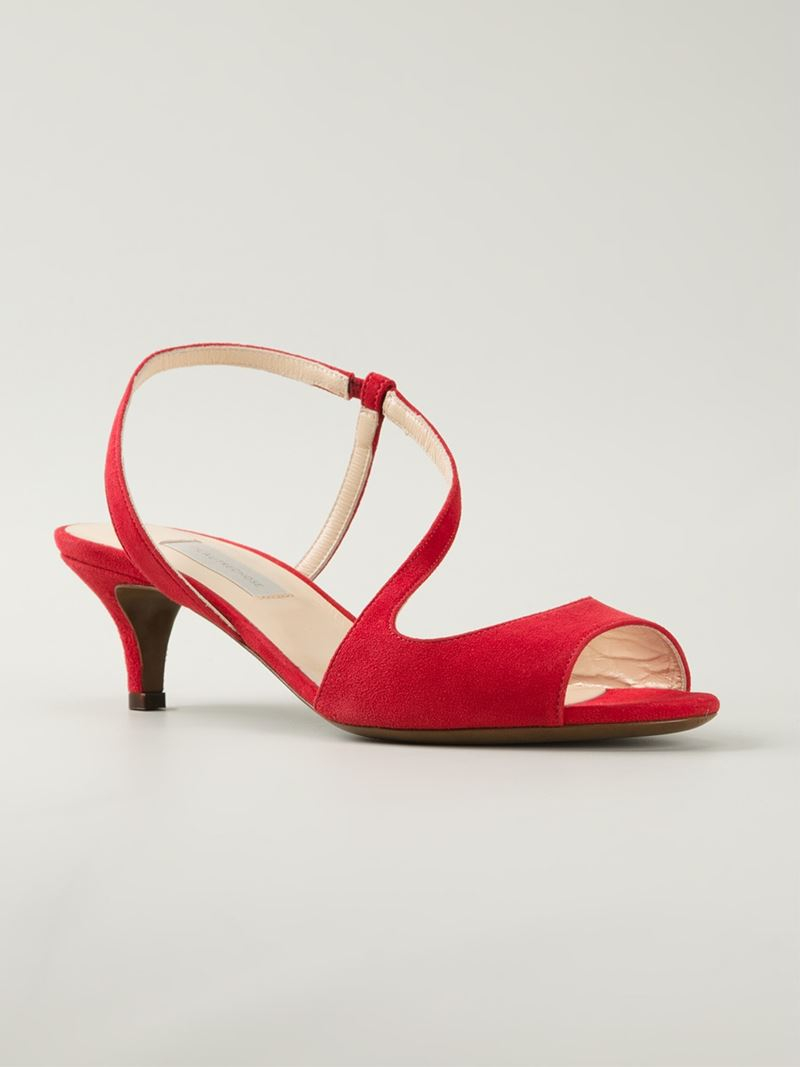 5803f9b288f Lyst - L Autre Chose Kitten Heel Sandals in Red