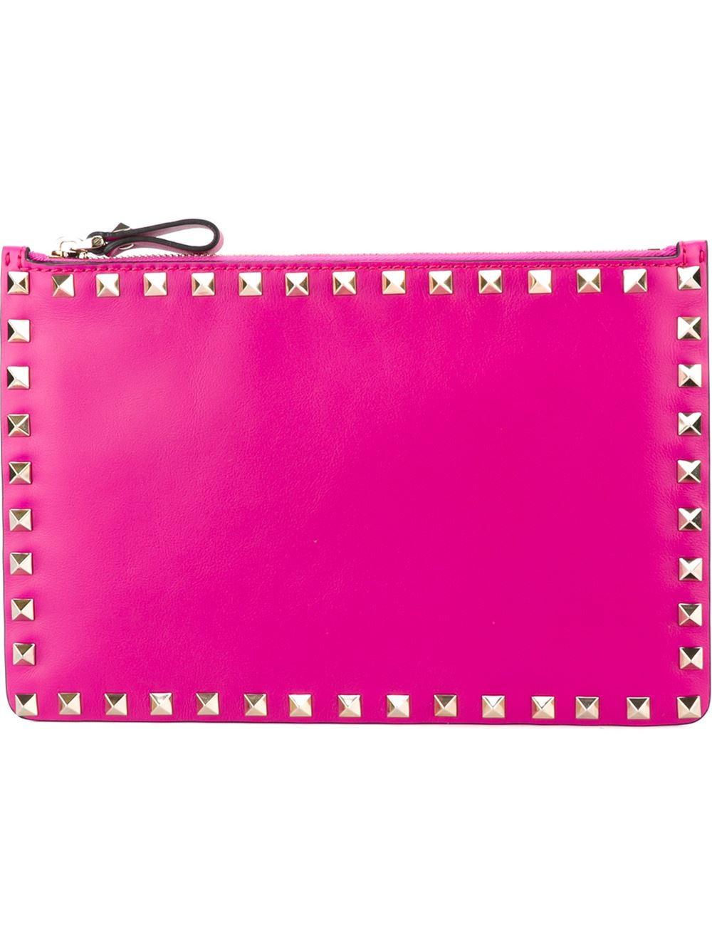 c2bcf481476 Valentino 'rockstud' Clutch in Pink - Lyst