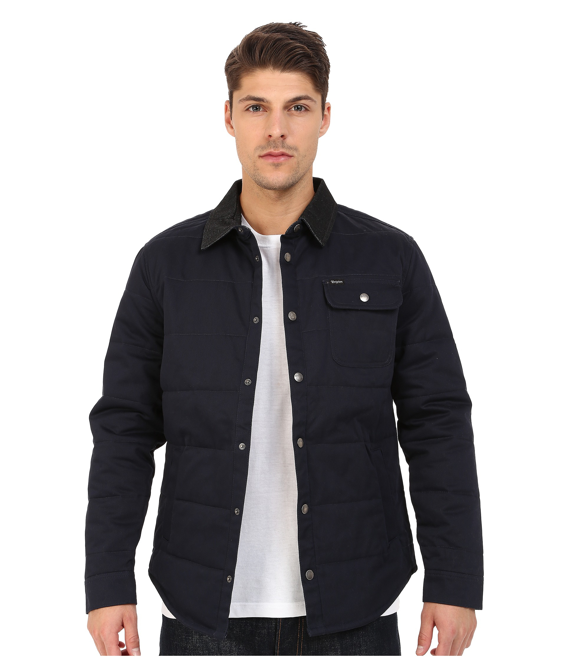 Lyst - Brixton Cass Jacket in Blue for Men 5343eb9211c