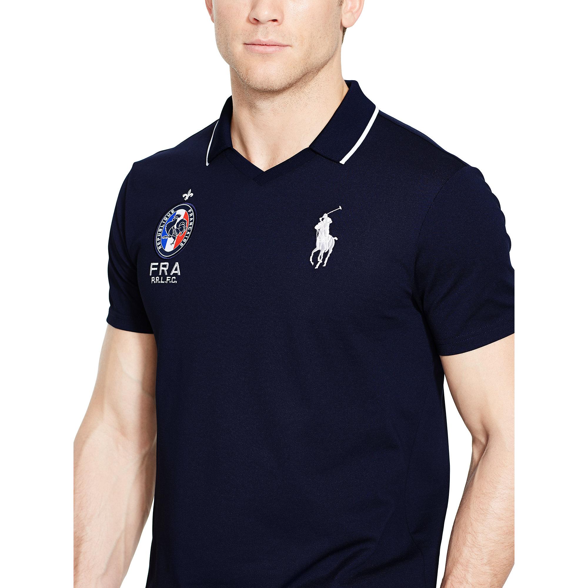 Lyst Ralph Lauren France Polo Shirt In Blue For Men