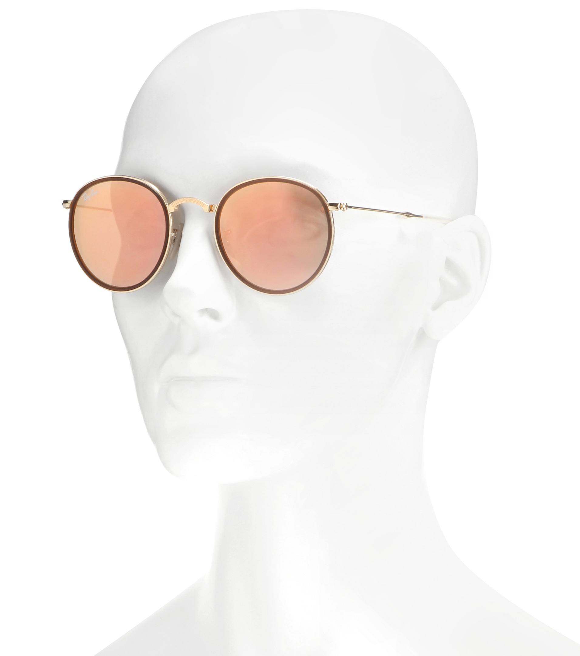 ray ban folding round sunglasses  gallery