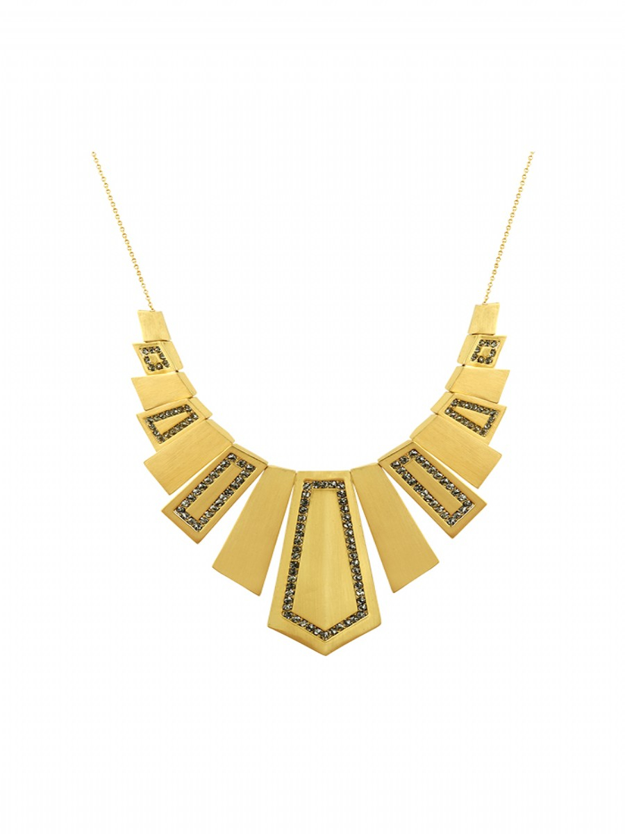 house of harlow 1960 spire deco necklace gold in gold lyst