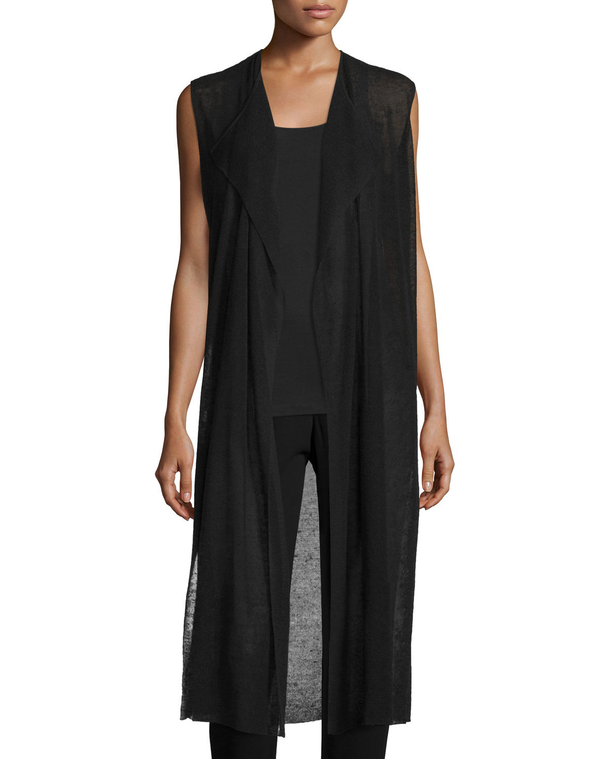Eileen Fisher Fisher Project Cascading Crepe Knit Long