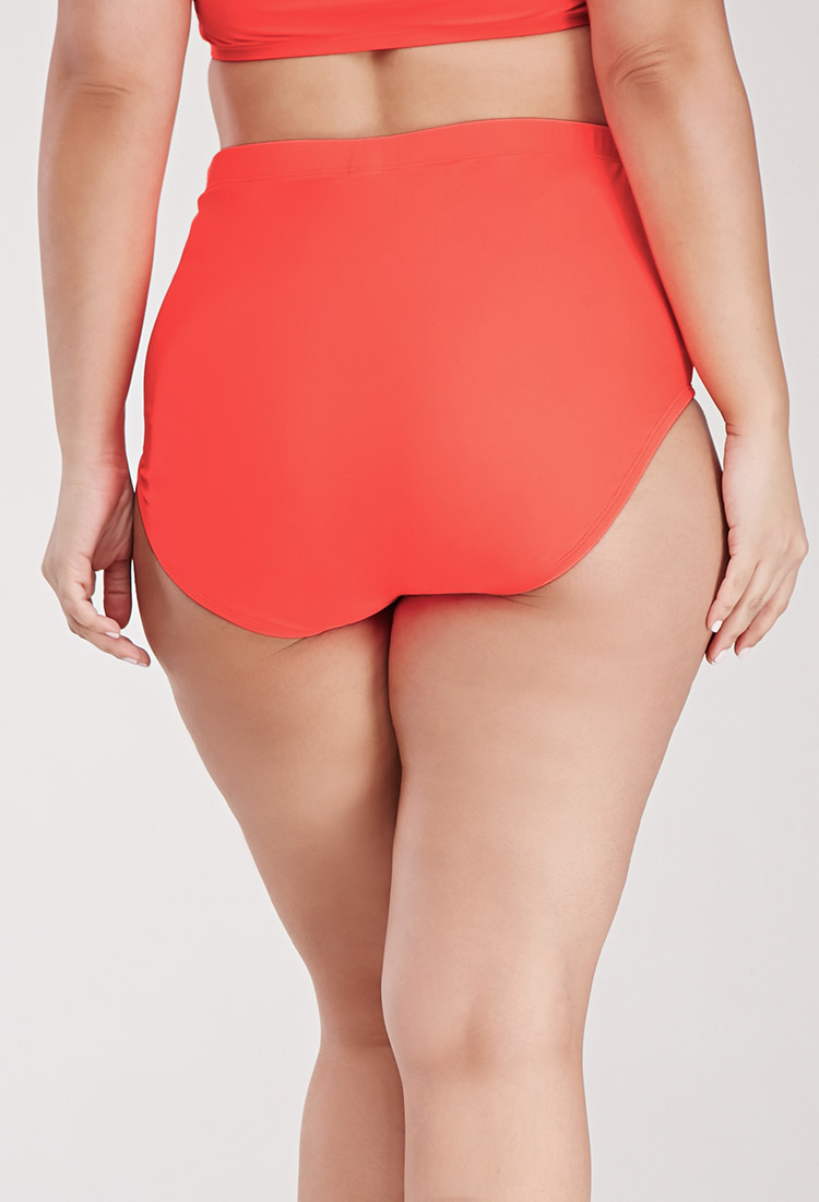 Forever 21 Plus Size Ruched High-waisted Bikini Bottom in ...