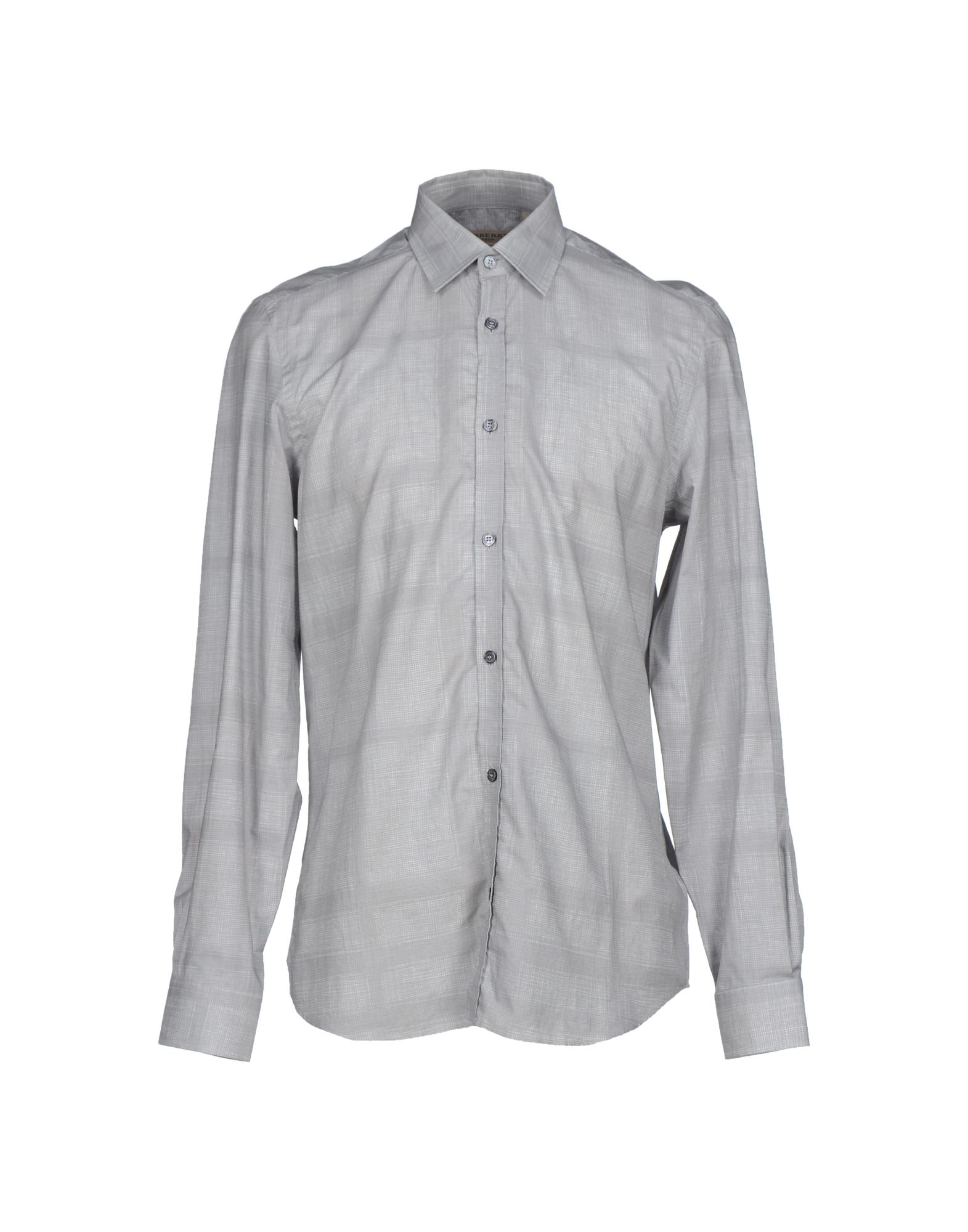 Burberry London Shirt In Gray For Men Grey