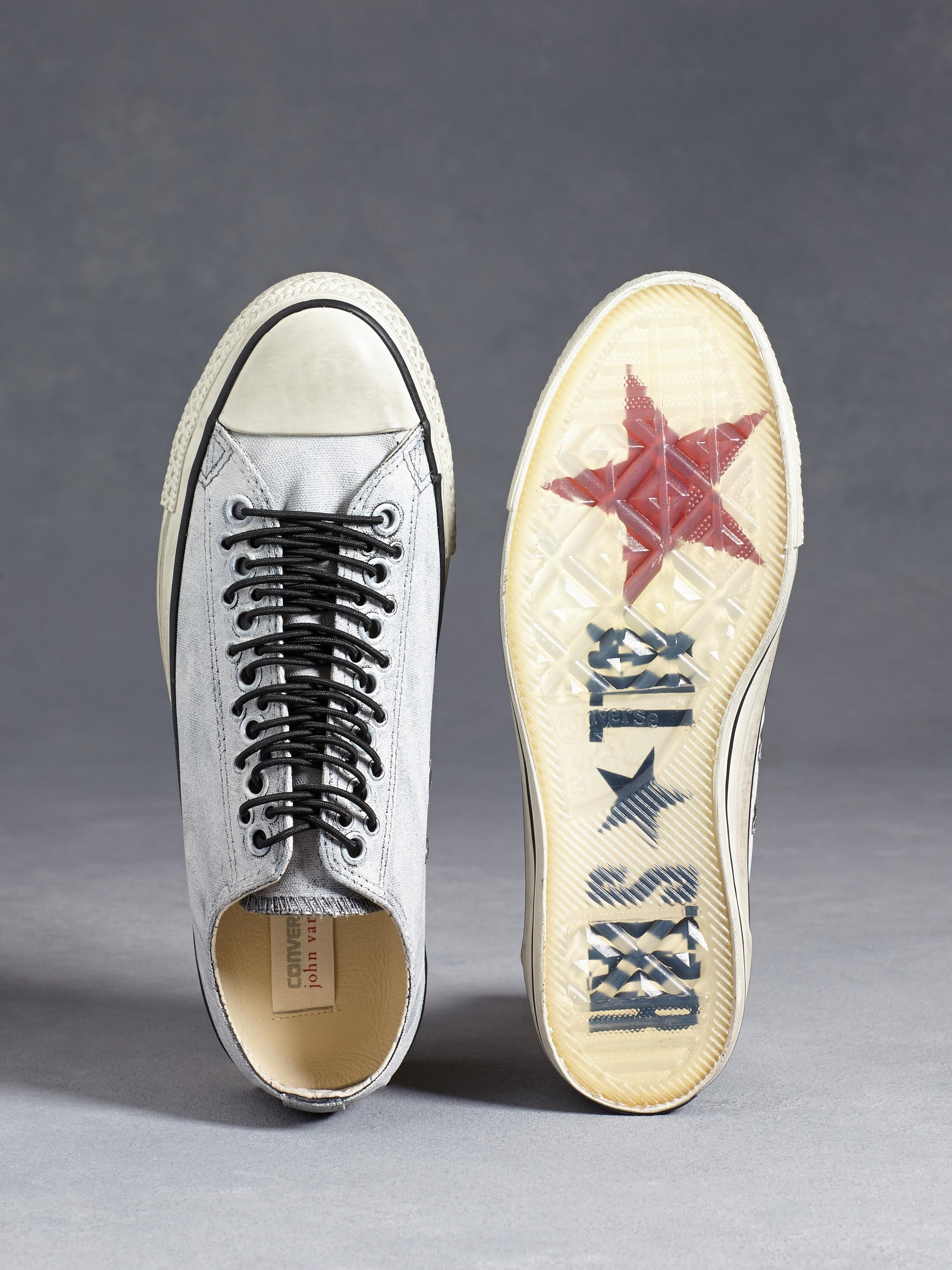 fc83eb727eba Lyst - John Varvatos All Star Multi-eyelet Painted Canvas Chuck ...