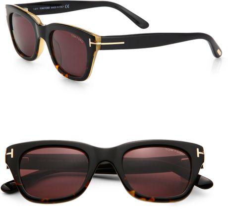 tom ford snowdon square plastic sunglasses in black. Black Bedroom Furniture Sets. Home Design Ideas