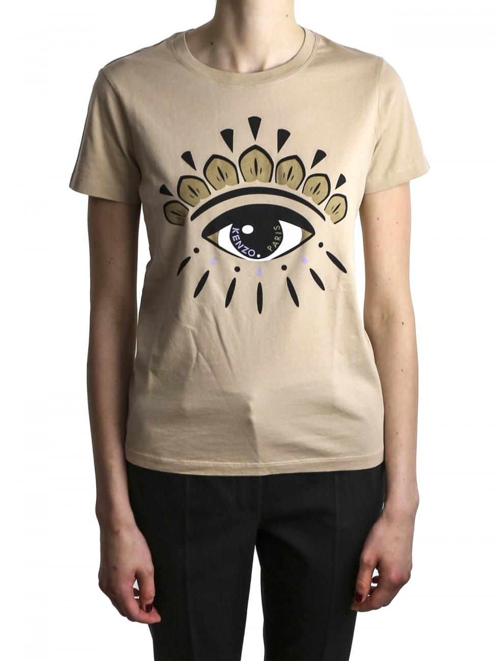 kenzo beige eye t shirt in natural lyst. Black Bedroom Furniture Sets. Home Design Ideas