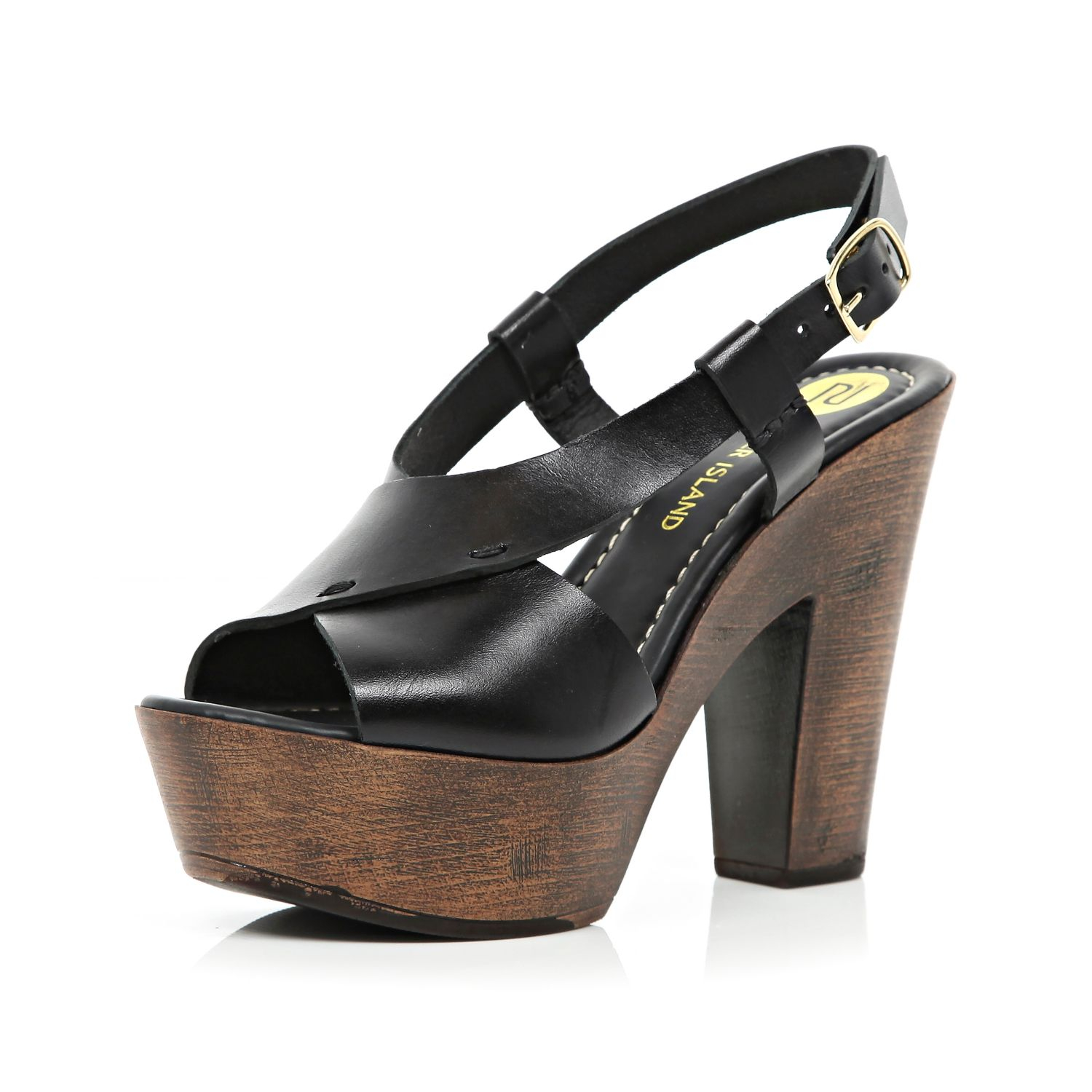 420bf63d945f Summer Wedge Sandals River Island.Lyst River Island Black Cross ...