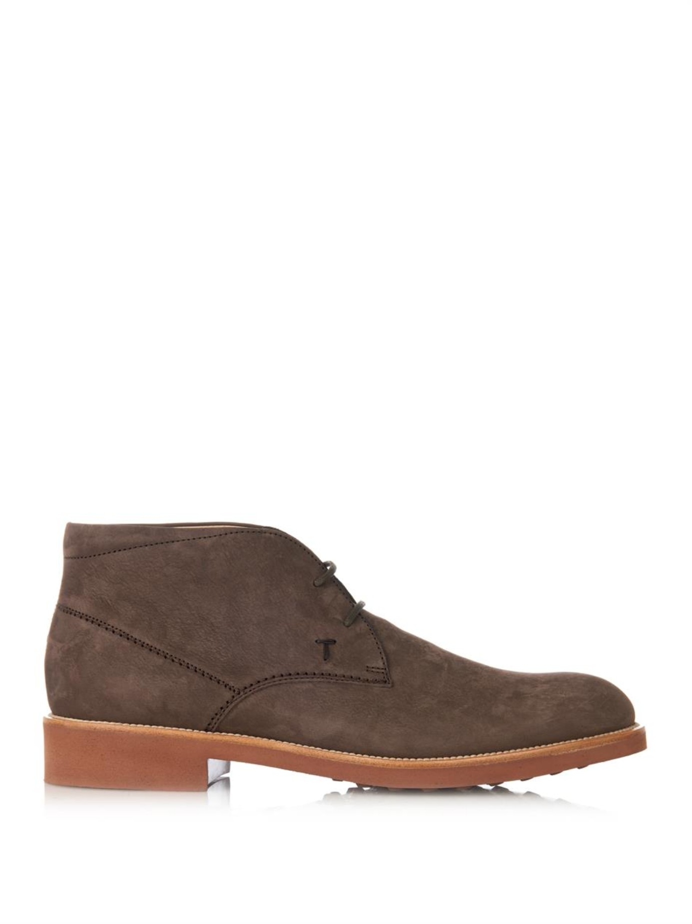 tod 39 s suede desert boots in brown for men lyst. Black Bedroom Furniture Sets. Home Design Ideas