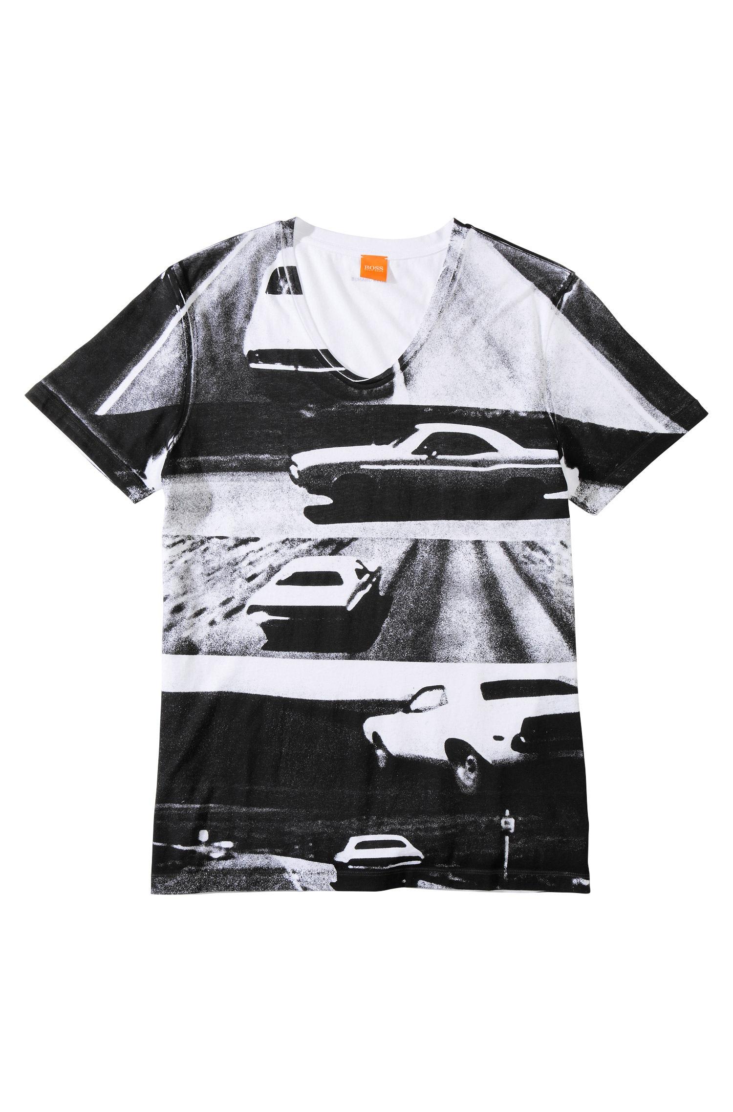 Lyst Boss Orange T Shirt 39 Tucon 1 39 With V Neck In Black