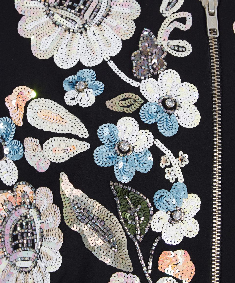 lyst needle u0026 thread black oriental garden embroidered bomber