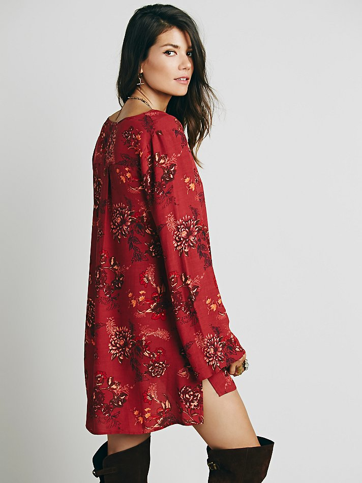 Lyst Free People Womens Heart Beat Printed Tunic