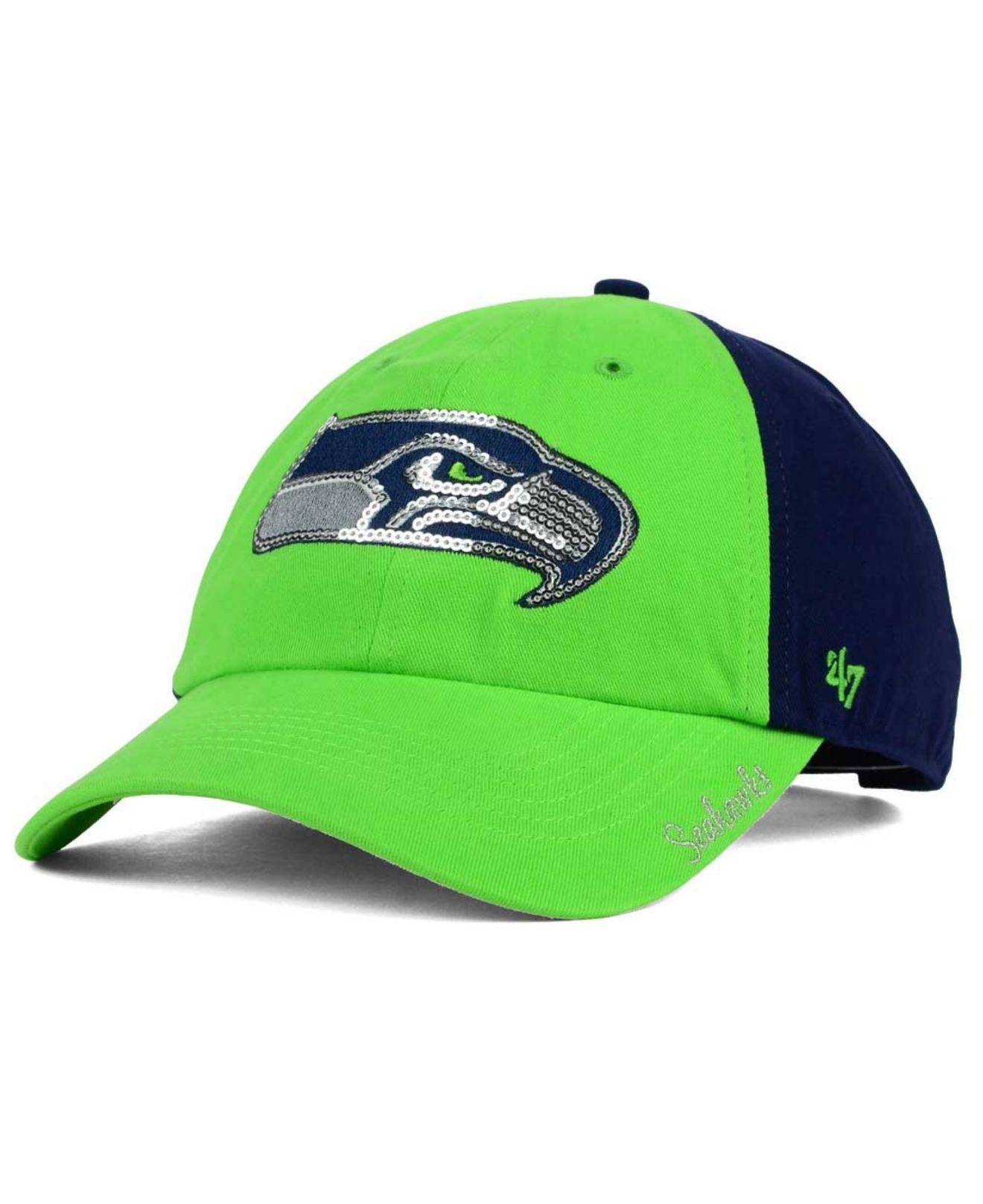 half off 38003 9d903 47 Brand Women s Seattle Seahawks Sparkle 2-tone Adjustable Cap in ...