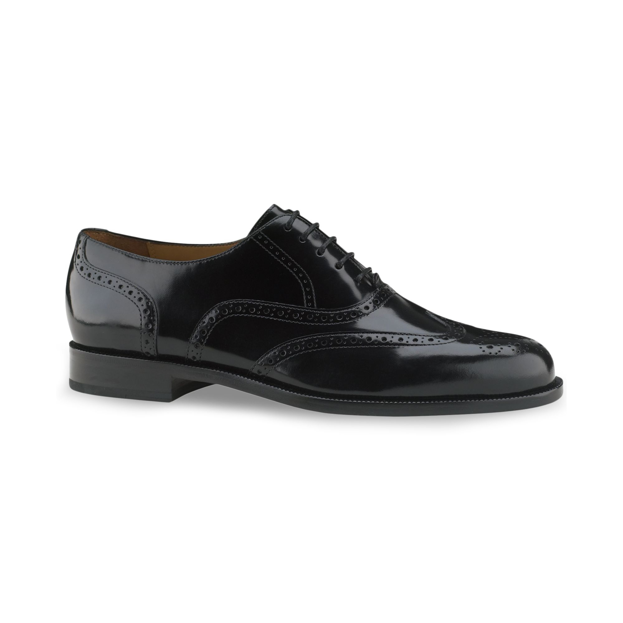 cole haan connolly wing tip shoes in black for lyst