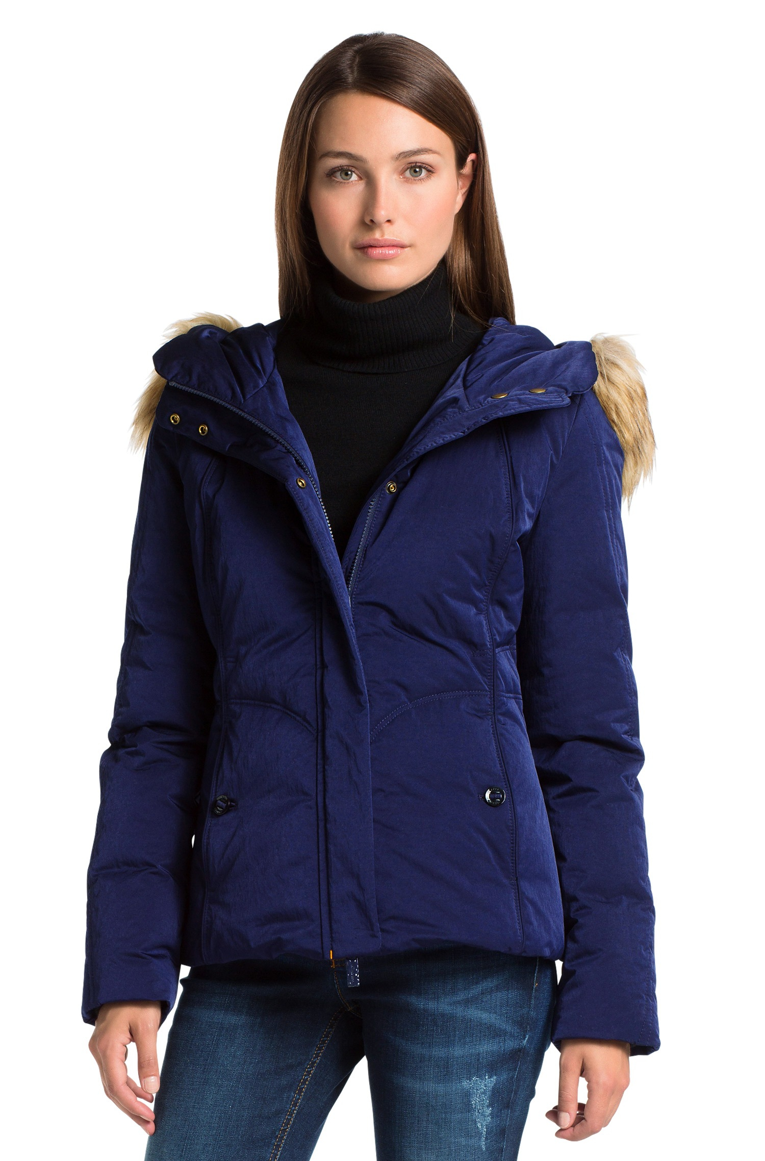 1bc93e41b62d BOSS Orange Down Jacket  Odorella  With A Detachable Hood in Blue - Lyst