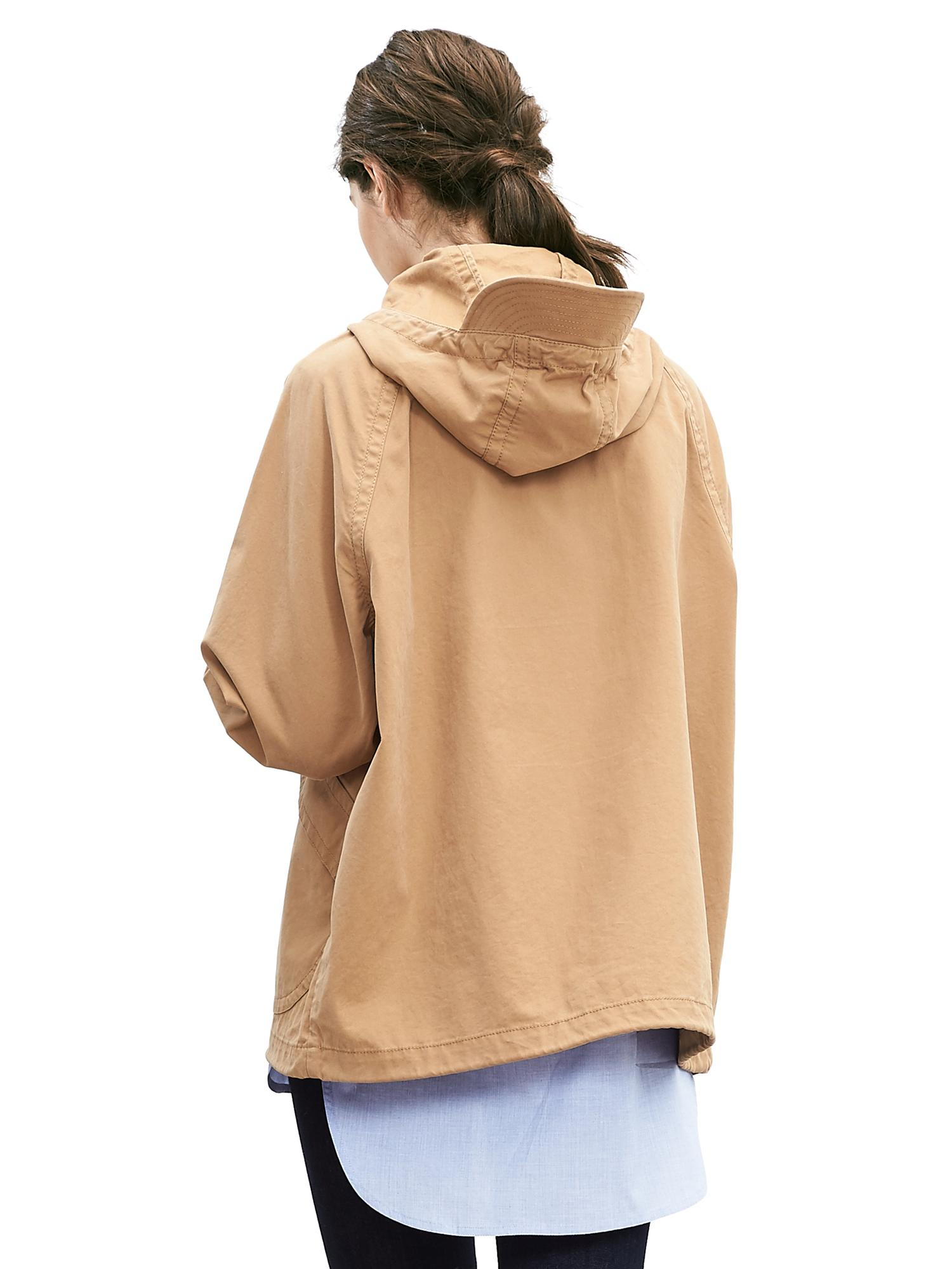 Banana Republic Heritage Hooded Zip Jacket In Beige Honey