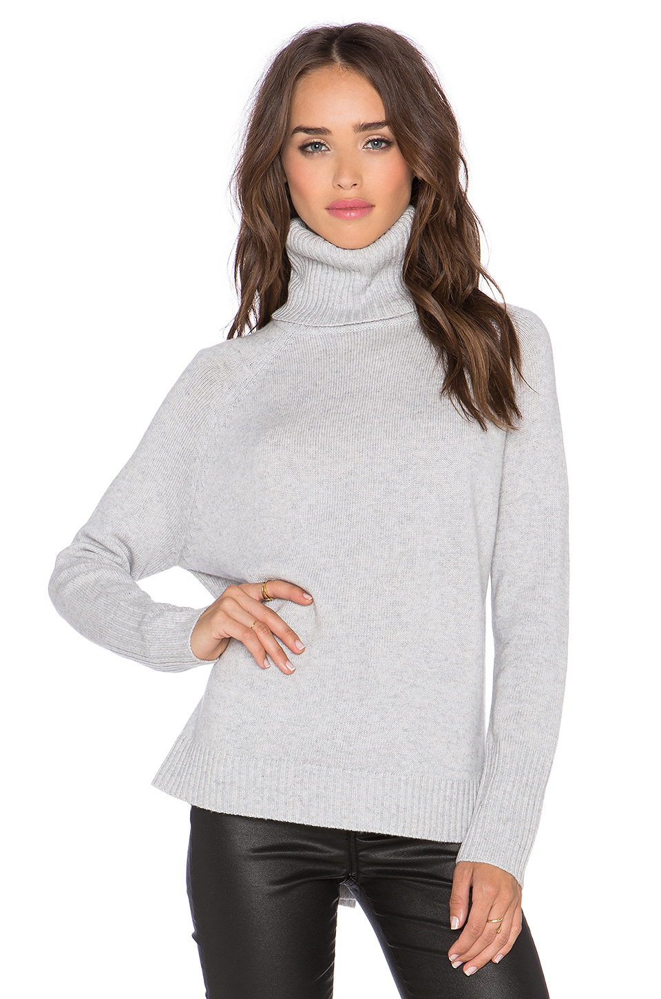 Michael stars Long Sleeve Turtleneck Sweater in Gray | Lyst