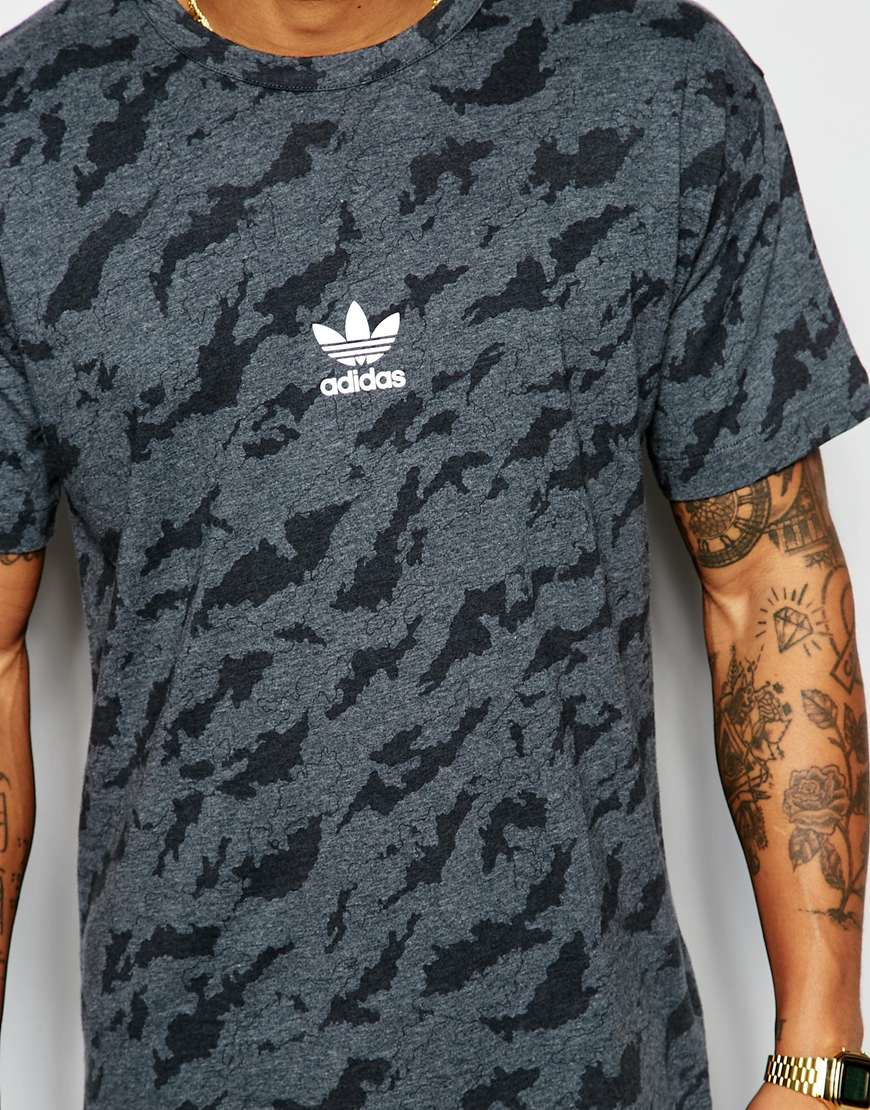 adidas originals camo t shirt aj7903 in gray for men lyst. Black Bedroom Furniture Sets. Home Design Ideas
