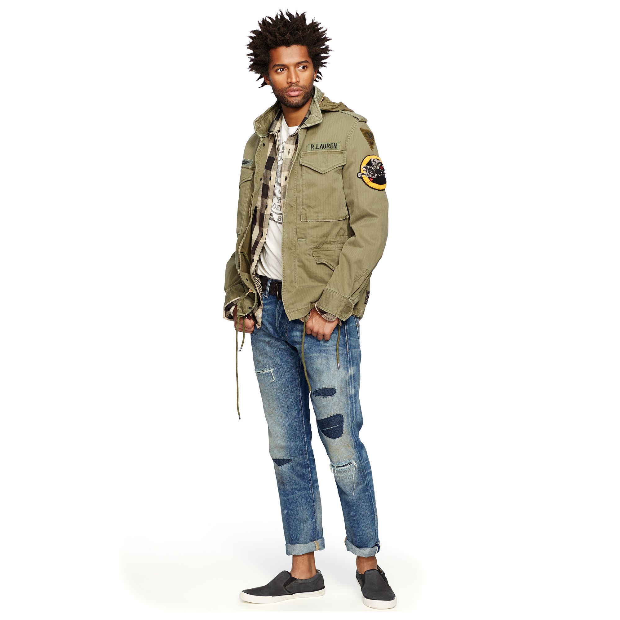 Polo Ralph Lauren Military Field Cotton Jacket Dr E