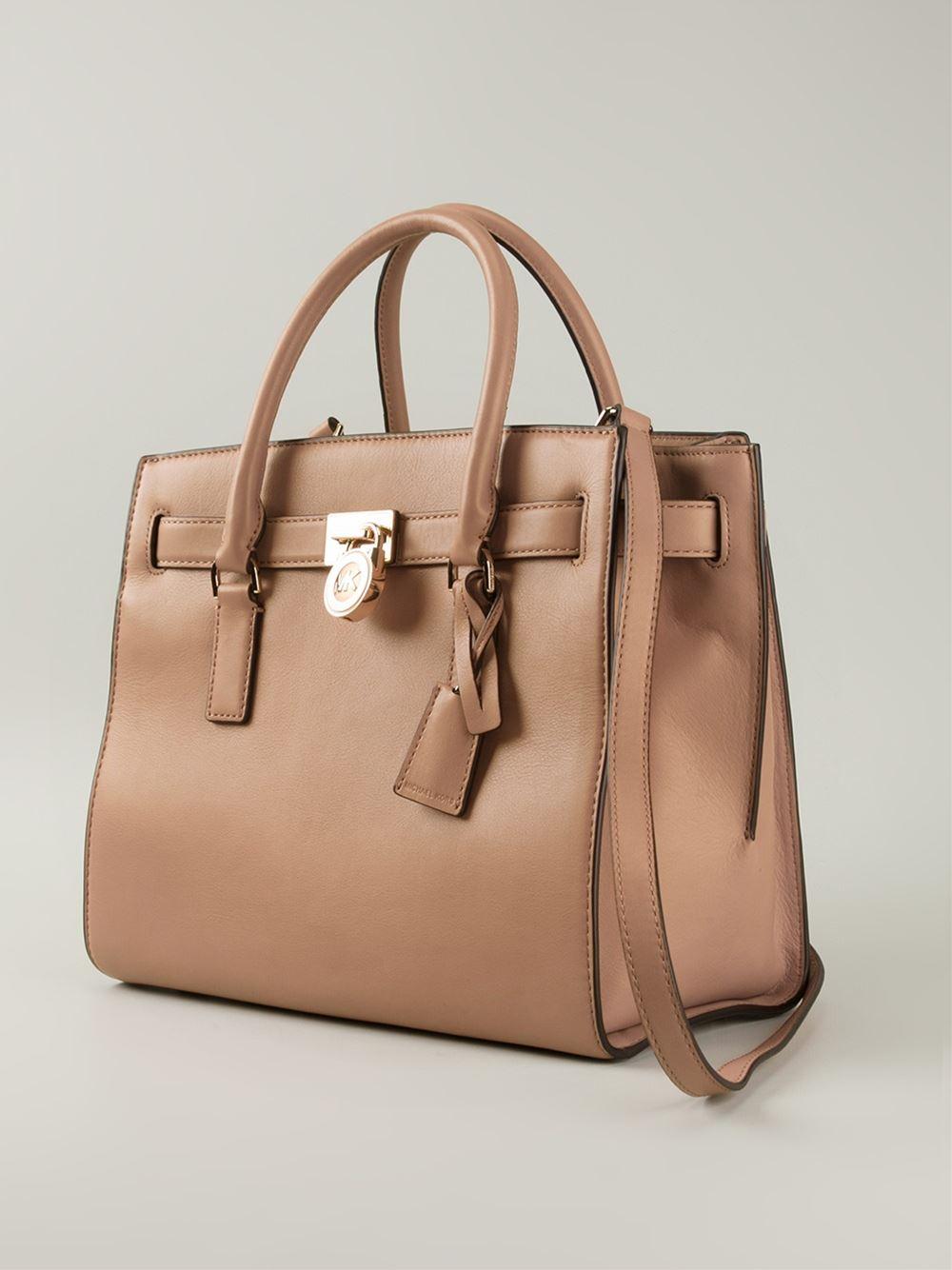 2d912cbfc1b0 Lyst - MICHAEL Michael Kors  Hamilton  Tote Bag in Natural