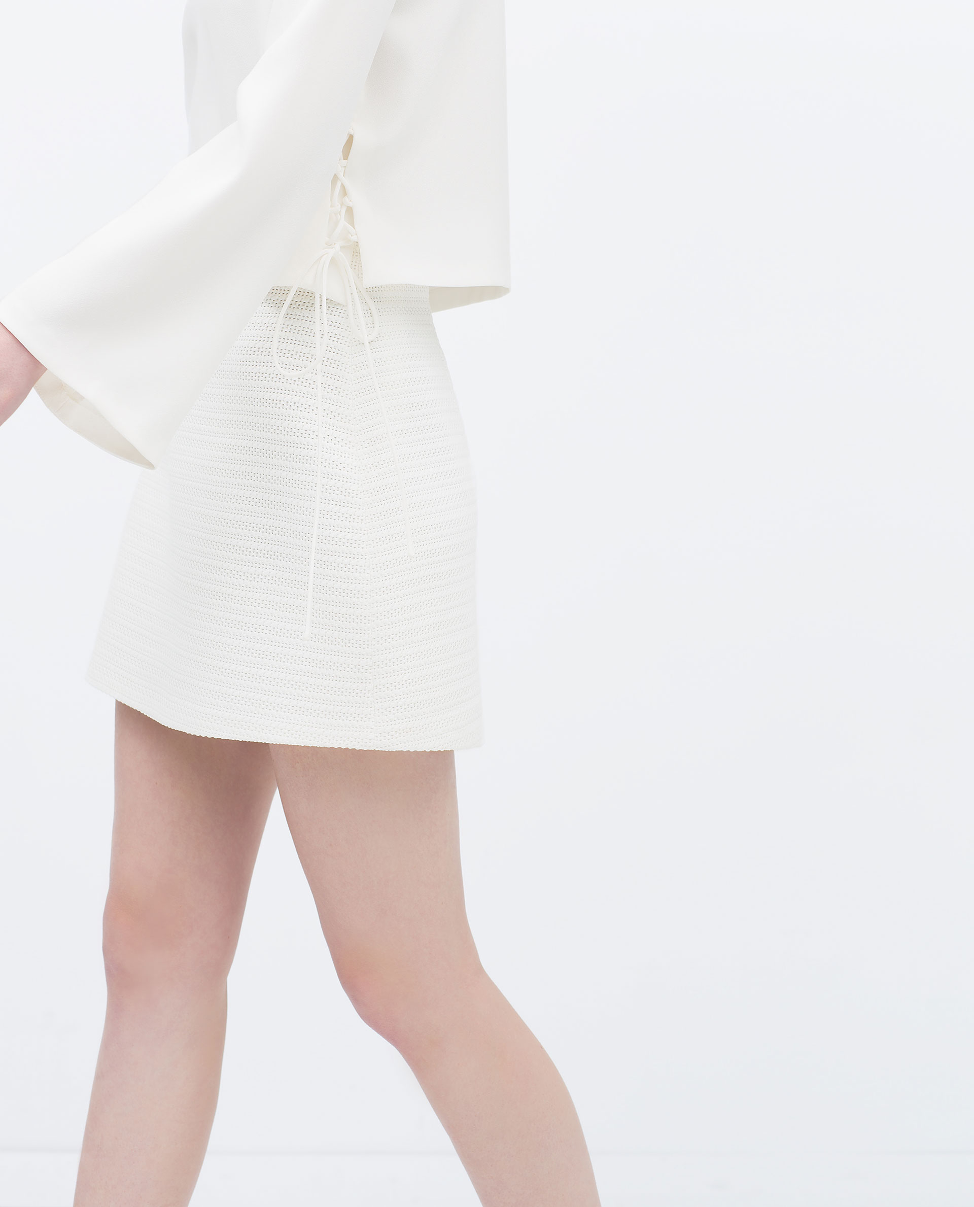 Zara A-Line Mini Skirt A-Line Mini Skirt in White | Lyst