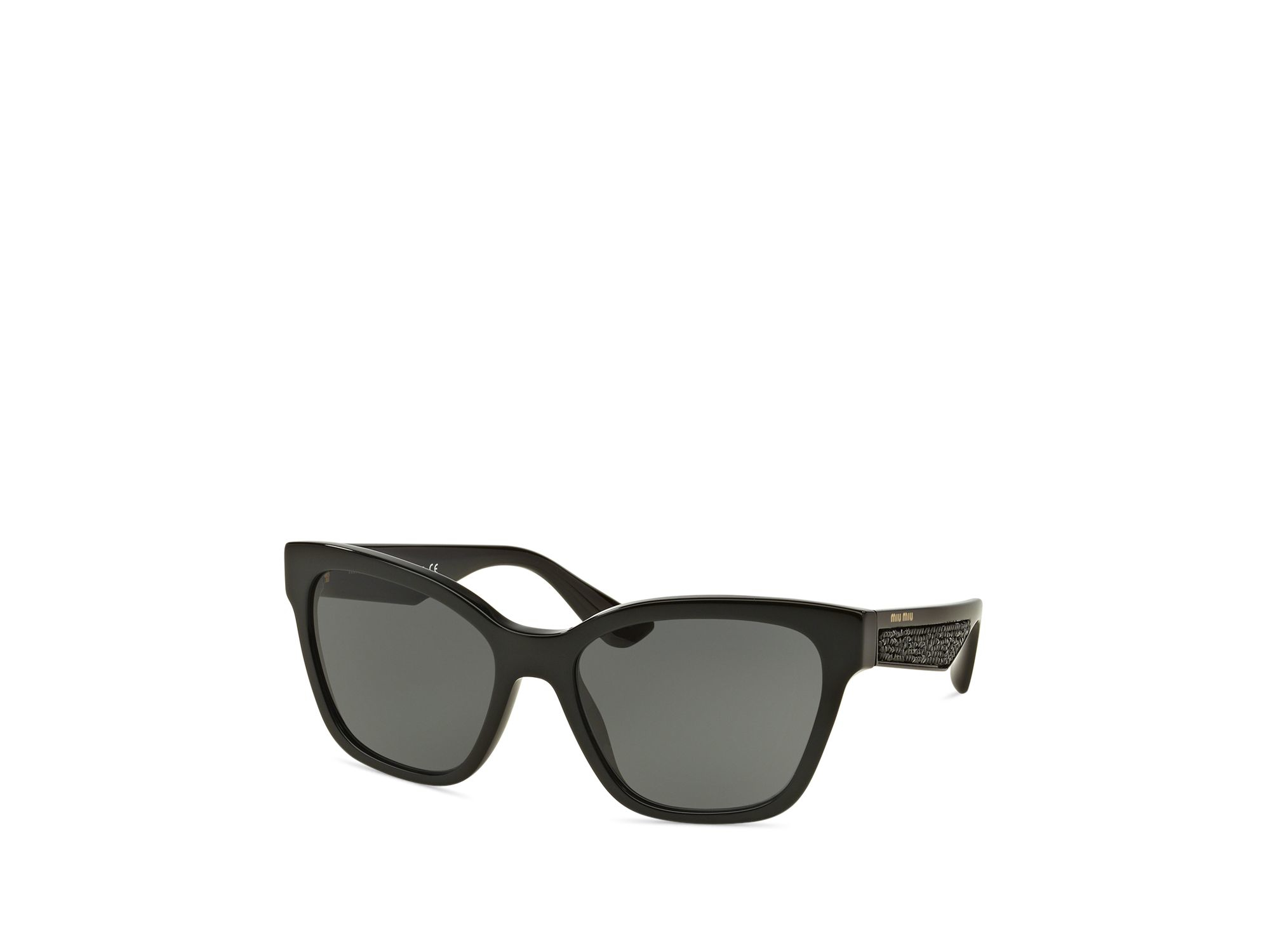 2a8c695d9ad Lyst - Miu Miu Glitter Temple Square Sunglasses