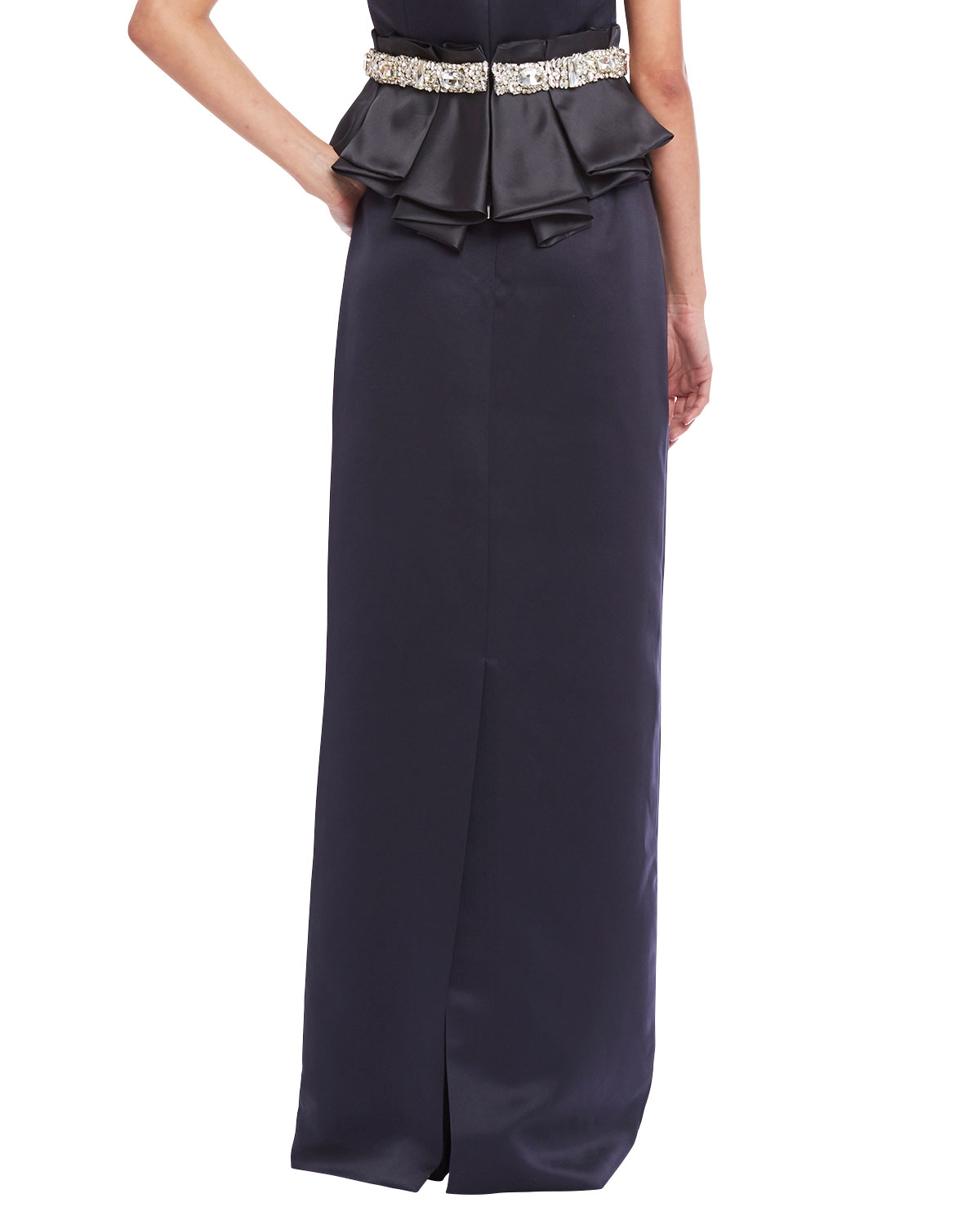 raoul satin evening maxi skirt in purple lyst