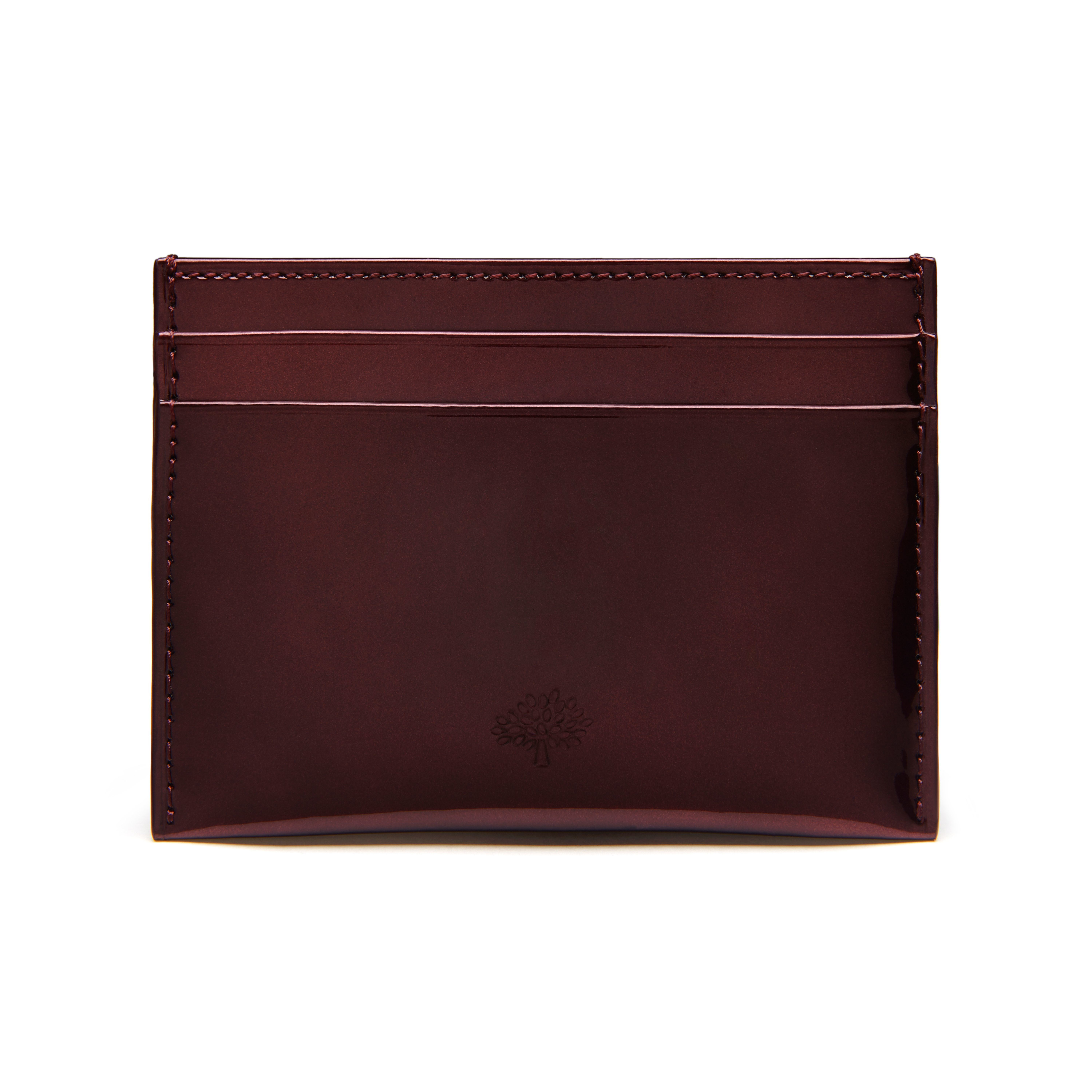 b7e78fce3b78 Mulberry Leather Mirror Card Holder in Purple - Lyst