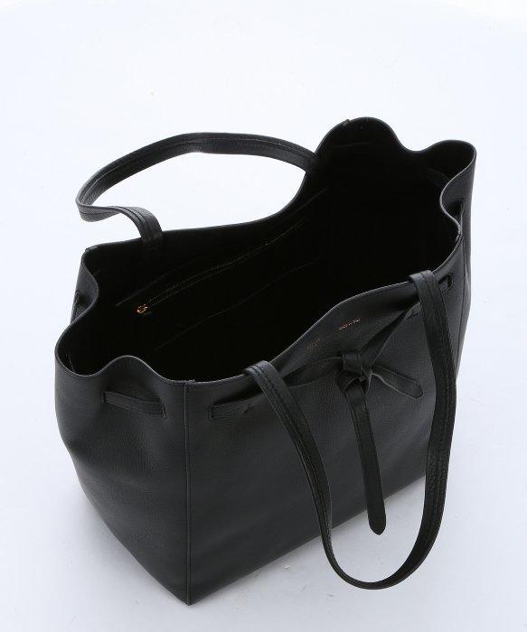C¨¦line Black Calfskin Belted Tote Bag in Black | Lyst