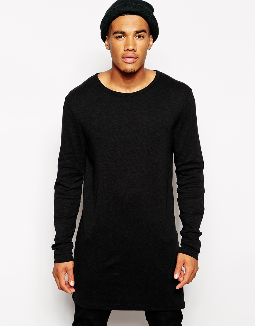Asos Long Sleeve T Shirt In Textured Fabric In Super