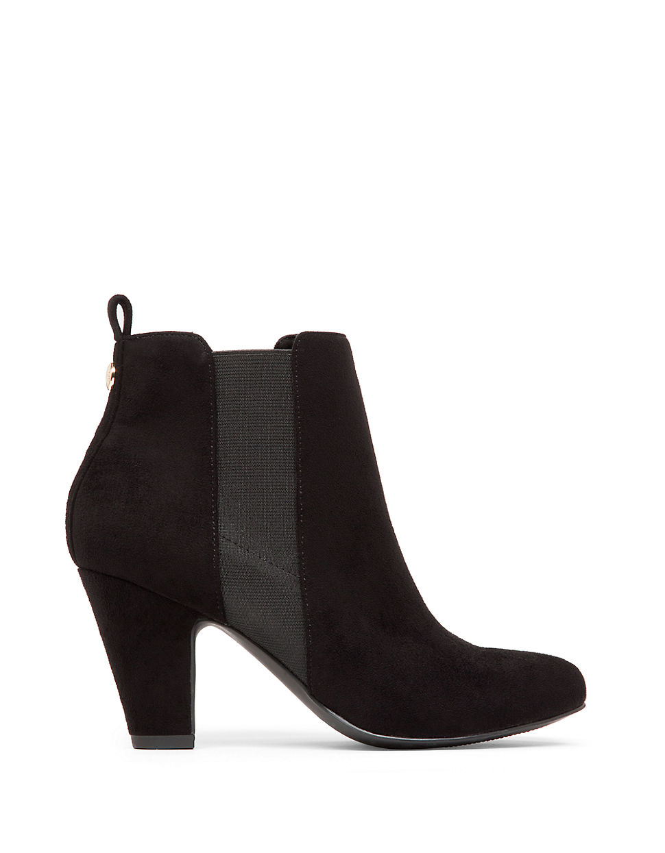 bcbgeneration donahue suede ankle boots in black lyst