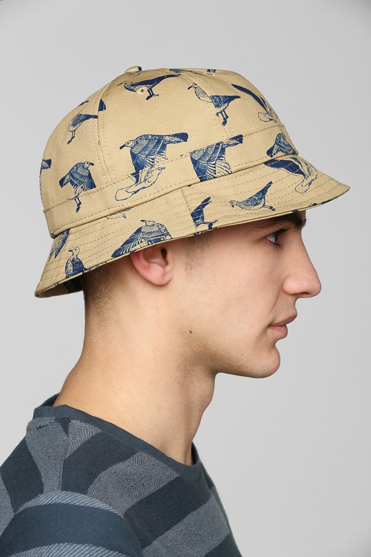 2166fcf1de0 ... official photos 23e4a 54774 Lyst - Obey Gulls Bucket Hat in Natural for  Men ...