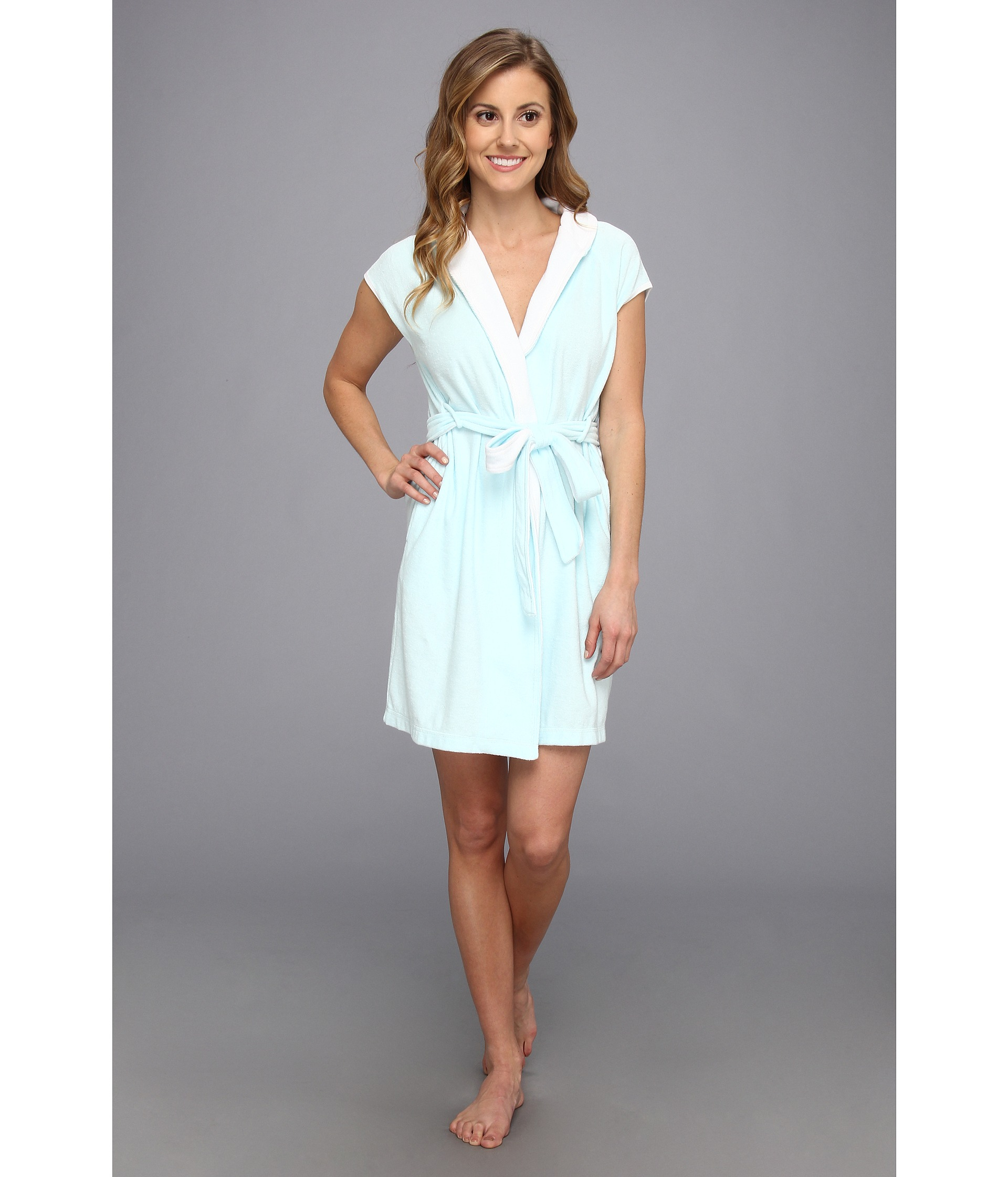 Lyst - Betsey Johnson Baby Terry Wifey Bridal Robe in Blue 460d6a2f8