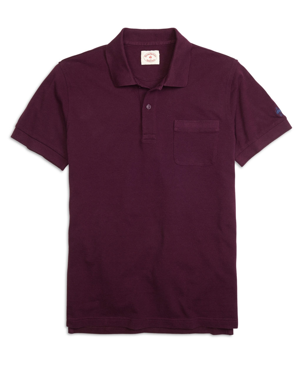 Brooks brothers purple solid pique polo shirt for men lyst Brooks brothers shirt size guide