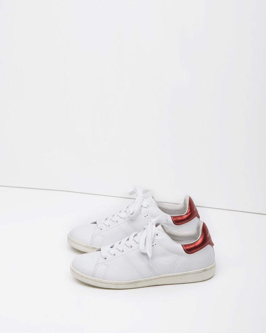 toile isabel marant bart sneaker in white lyst. Black Bedroom Furniture Sets. Home Design Ideas