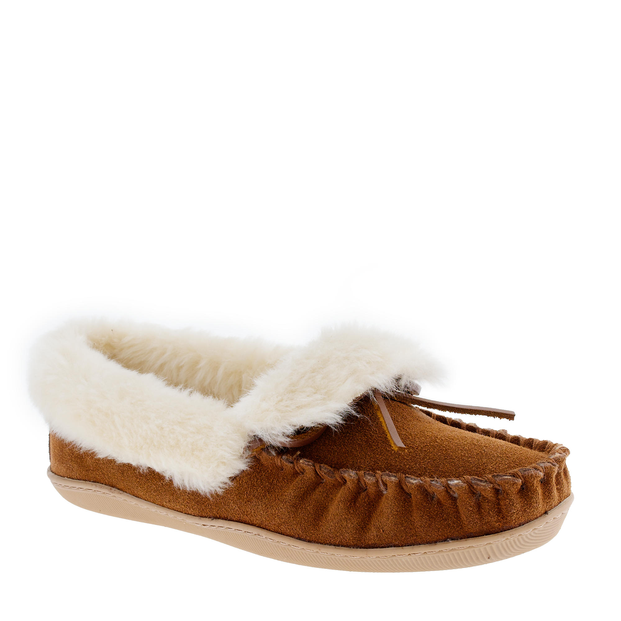 Women 39 s lodge moccasins in brown lyst for J crew bedroom slippers
