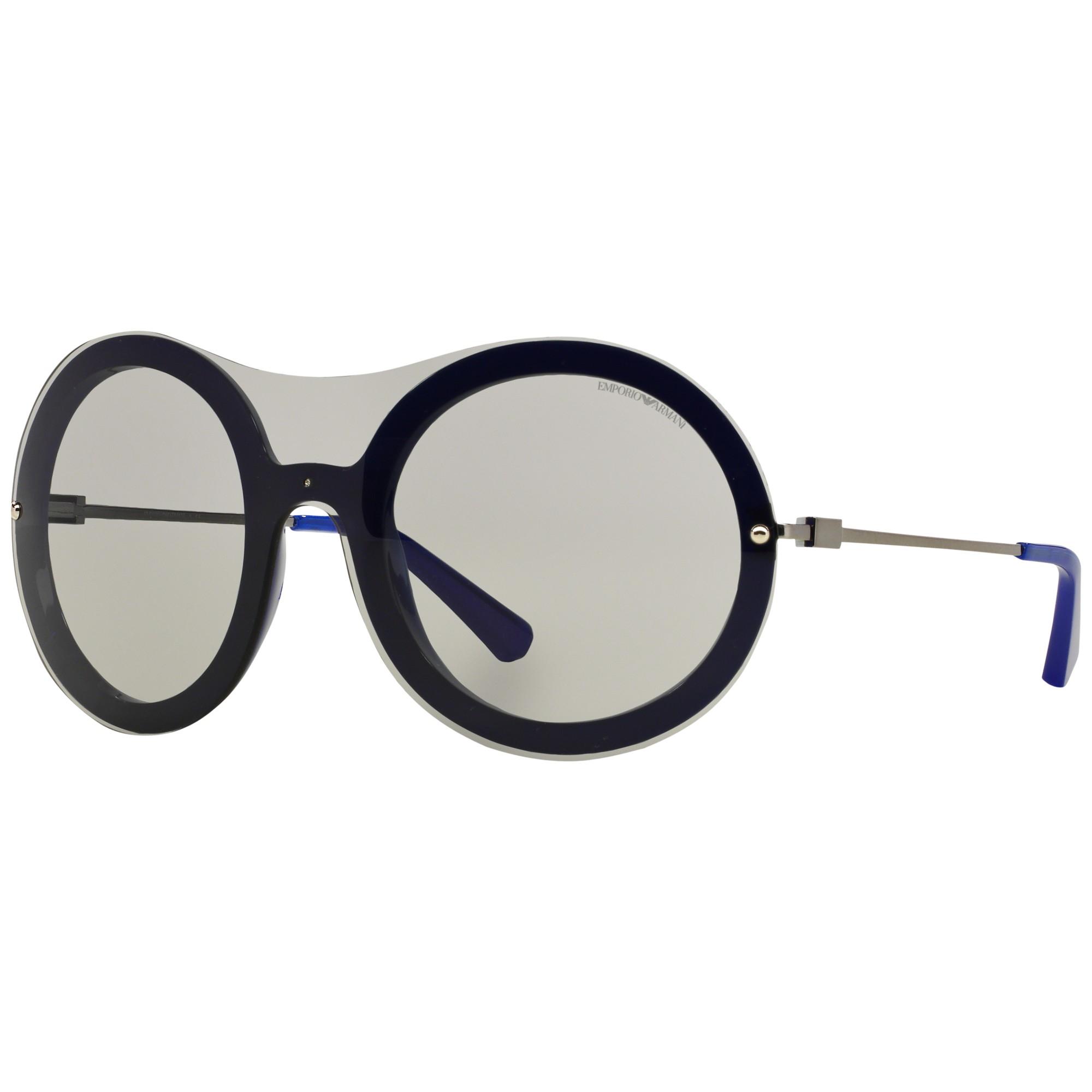 61b6ecf421 Emporio Armani Ea4055 Round Framed Sunglasses in Gray - Lyst