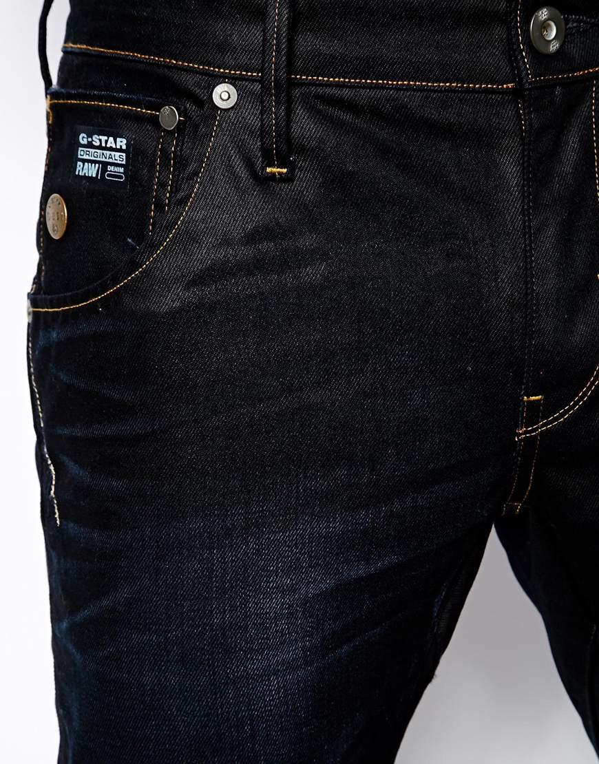 g star raw g star jeans arc 3d slim fit indigo aged in blue for men lyst. Black Bedroom Furniture Sets. Home Design Ideas