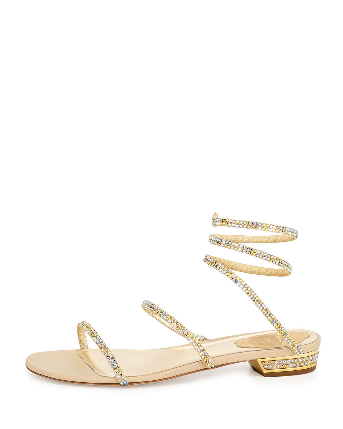 Champagne Colored Flat Shoes