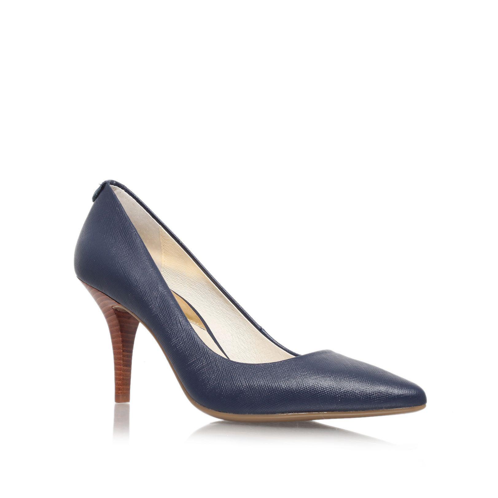 michael kors mk flex high heel court shoes in blue lyst. Black Bedroom Furniture Sets. Home Design Ideas