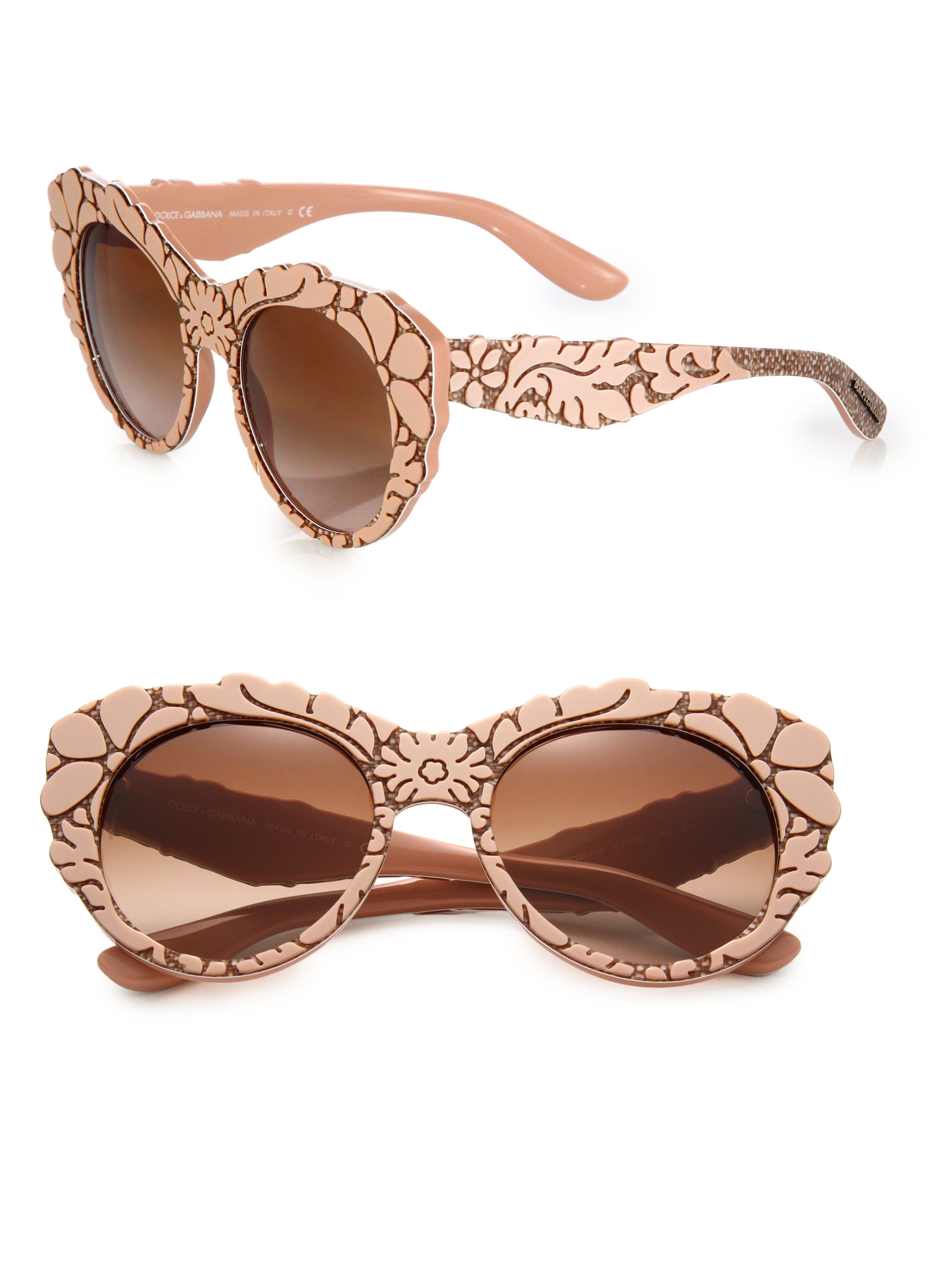 Dolce Gabbana Cat Eye Sunglasses  dolce gabbana mama s brocade 53mm cat s eye sunglasses in pink