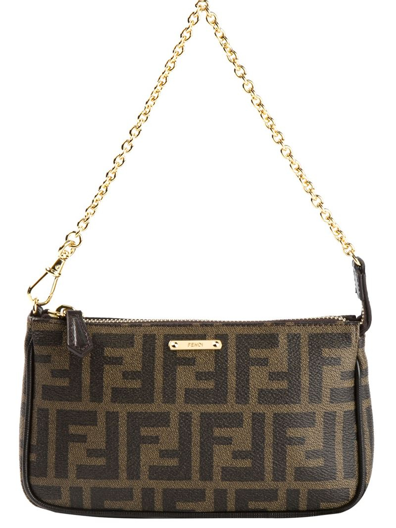 662f5117c6 Lyst - Fendi Signature Monogram Shoulder Bag in Brown