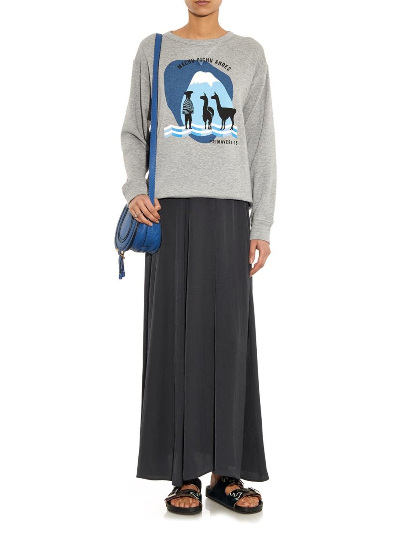Étoile isabel marant Fleming Maxi Skirt in Gray   Lyst