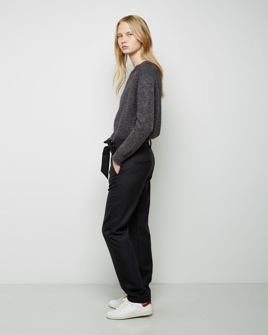 lyst isabel marant kalla paperbag suiting pant in black. Black Bedroom Furniture Sets. Home Design Ideas