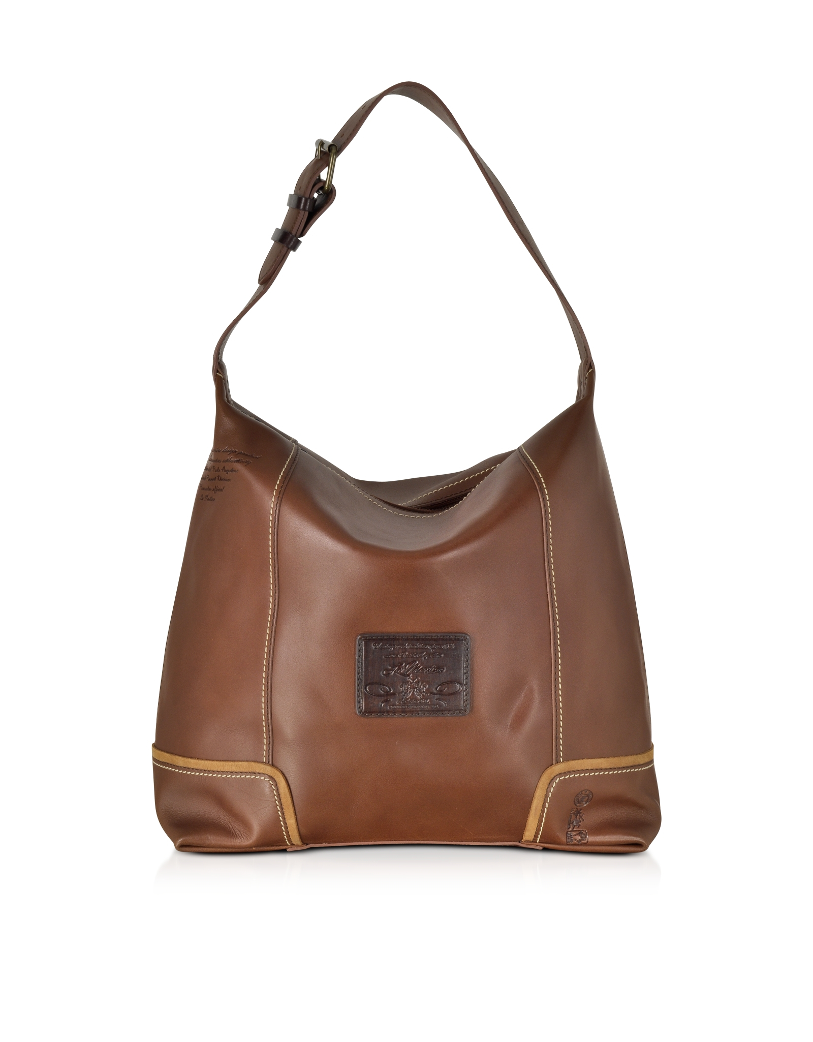 La martina Mirada Cognac Leather Hobo Bag in Brown | Lyst