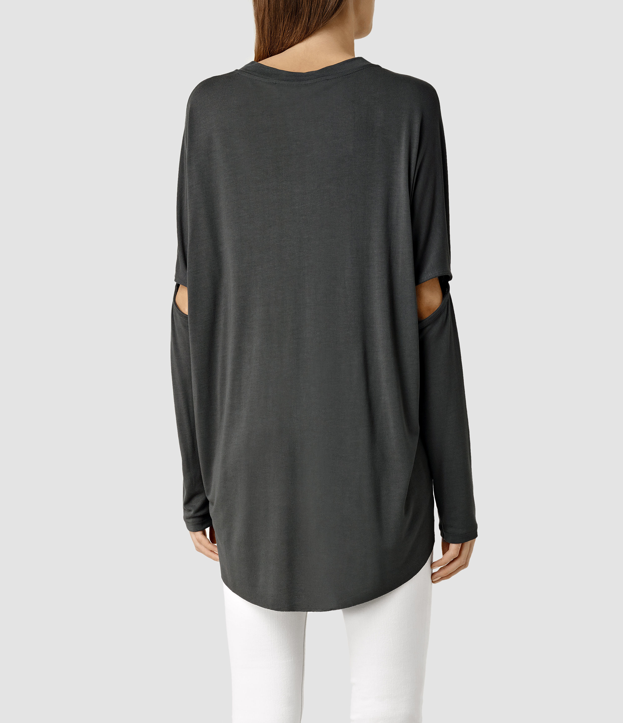 Allsaints Wave Top in Gray (Dark Charcoal)